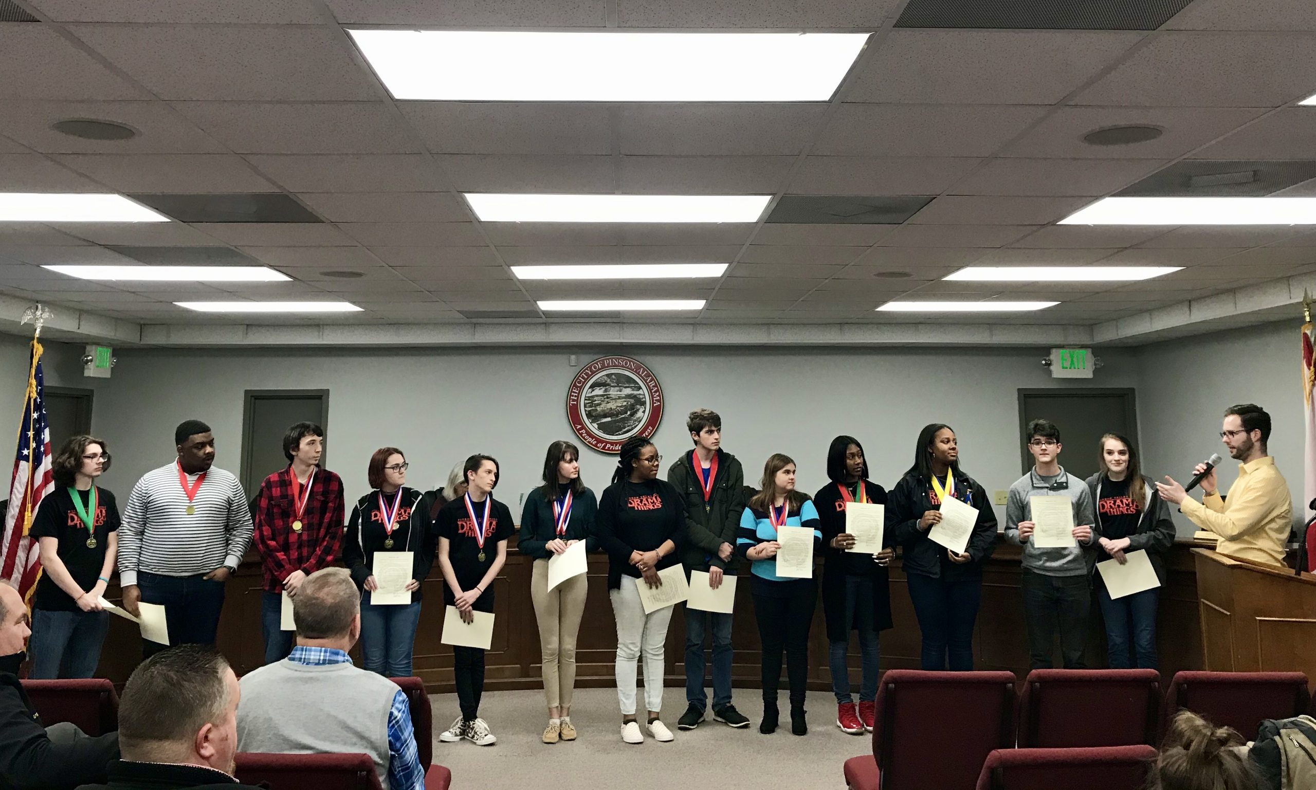 Pinson Council recognizes PVHS Theatre 'Walter Trumbauer' winners, updates salaries for 2020 election season