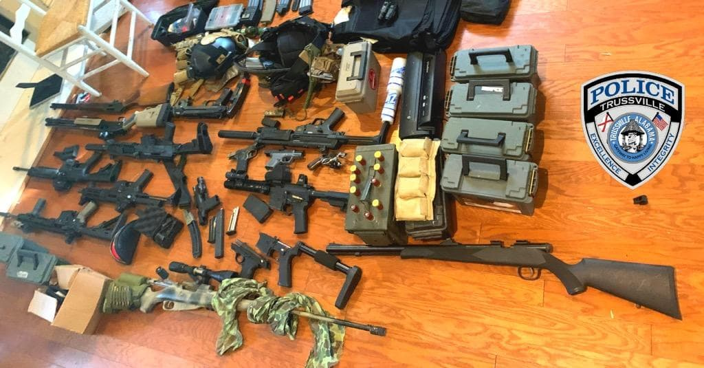 Trussville PD recovers illegal weapons, fake hand grenade, drugs inside Boulder Drive home