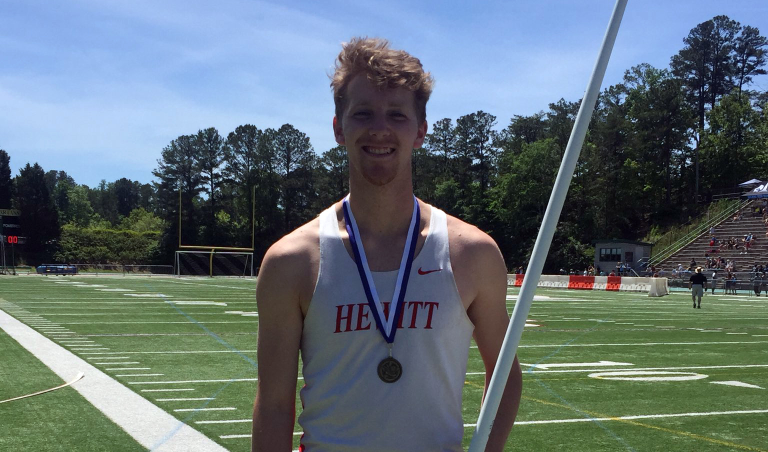 Former Hewitt-Trussville track and field star Caleb Long claims first place in men's heptathlon at Gulf South Conference championships