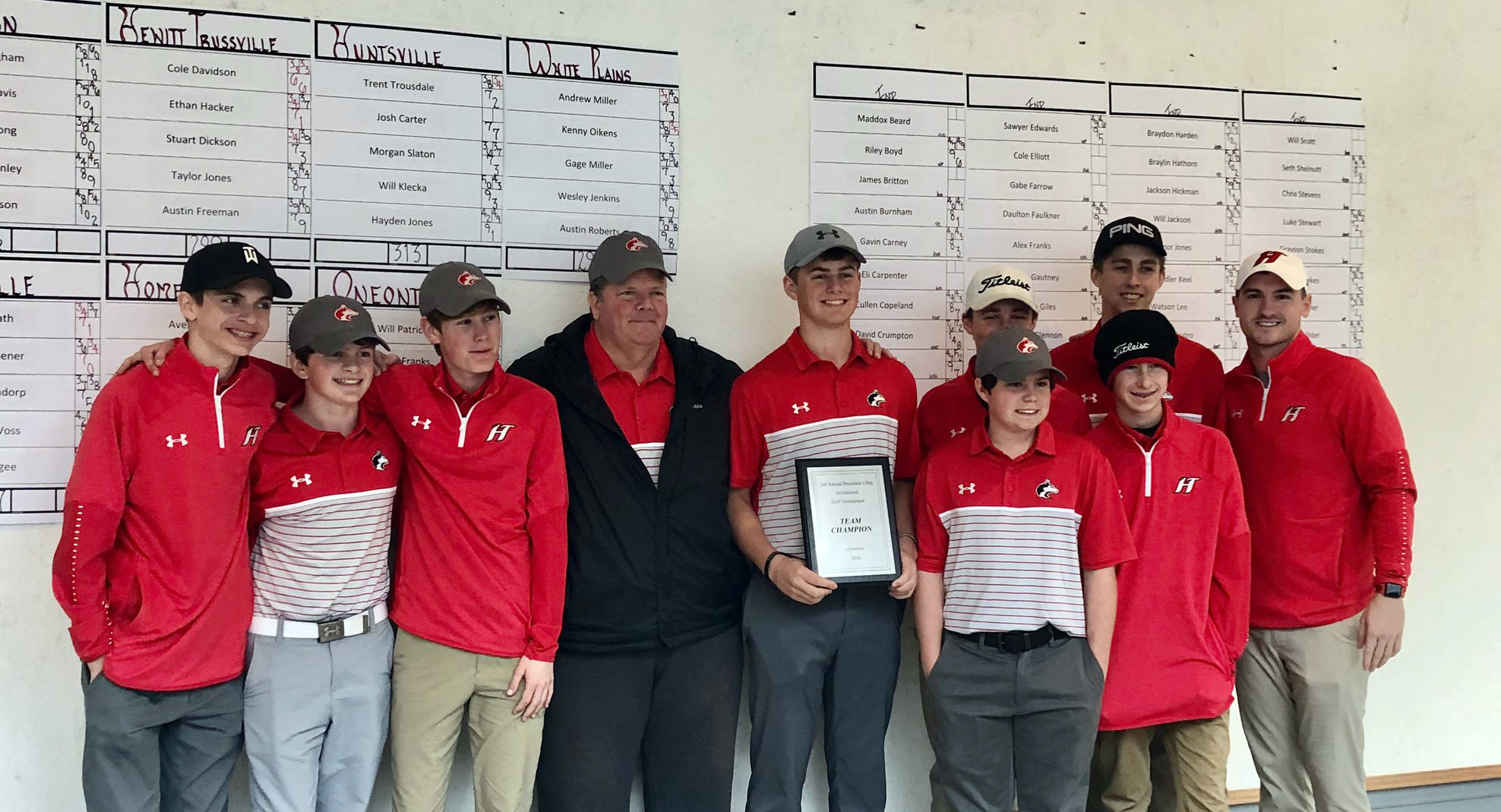 Hewitt-Trussville boys' golf team wins President's Day Invitational Golf Tournament in first event for new head coach Steve Patrick