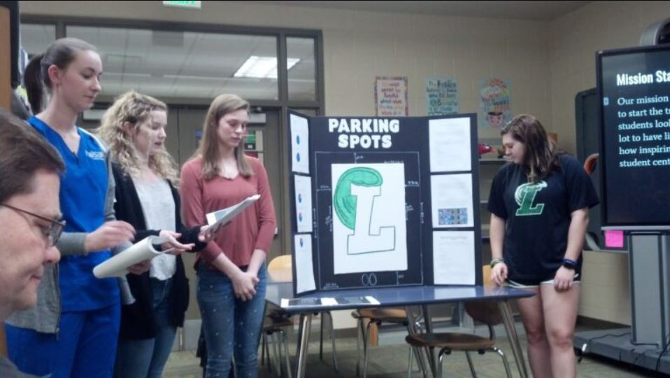 LHS students propose yearly parking lot painting projects to Leeds Board of Education