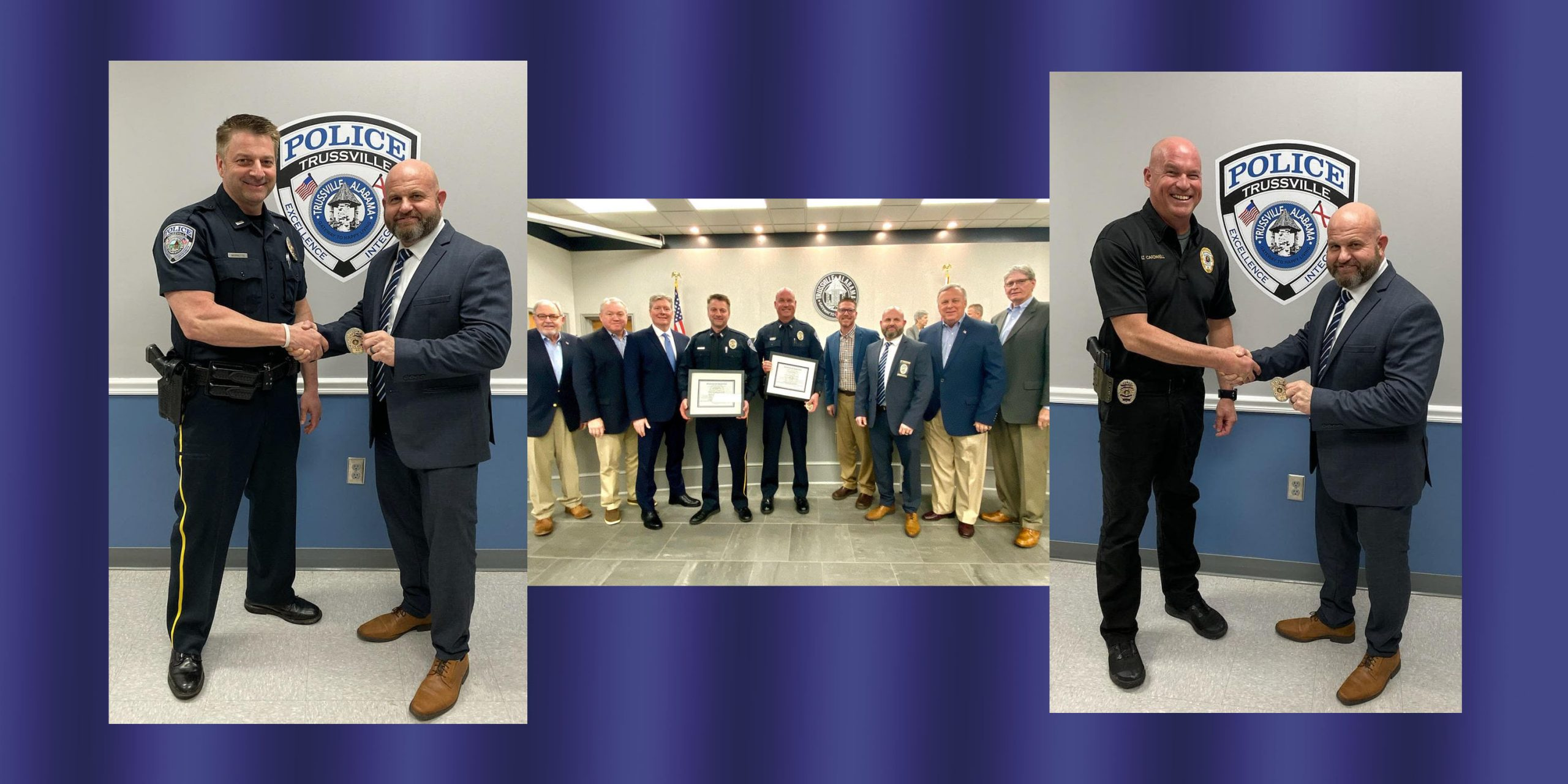 2 Trussville Police Officers promoted to Captain rank