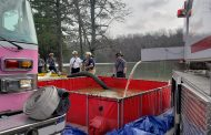 Center Point, Trussville, Pine Mountain fire departments conduct water-fire training at Cosby Lake