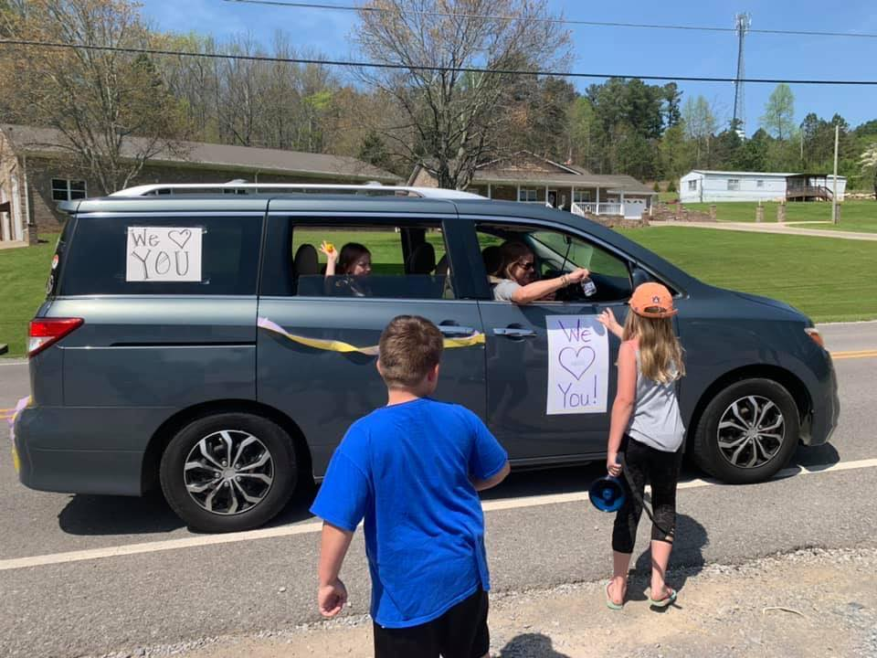 PHOTOS: Springville Elementary School teacher parade