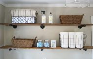 DIY Laundry room shelves