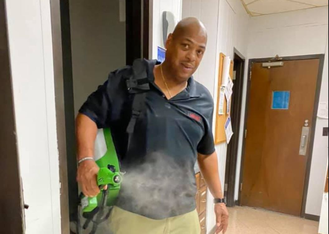Moody custodian goes far beyond duties at schools during coronavirus outbreak