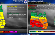 NWS: 2 rounds of storms expected Sunday, threat includes hail, flooding and possible tornadoes