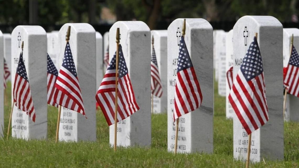 National cemeteries missing flags, ceremonies amid pandemic