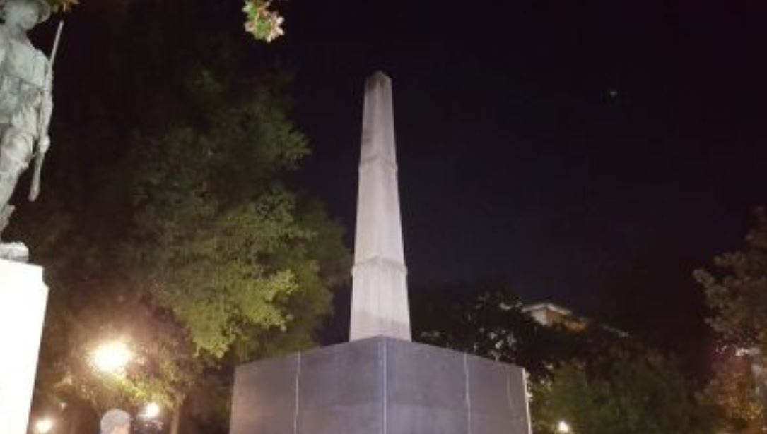 BREAKING: Protesters gather in Birmingham's Linn Park attempt to tear down Confederate monument