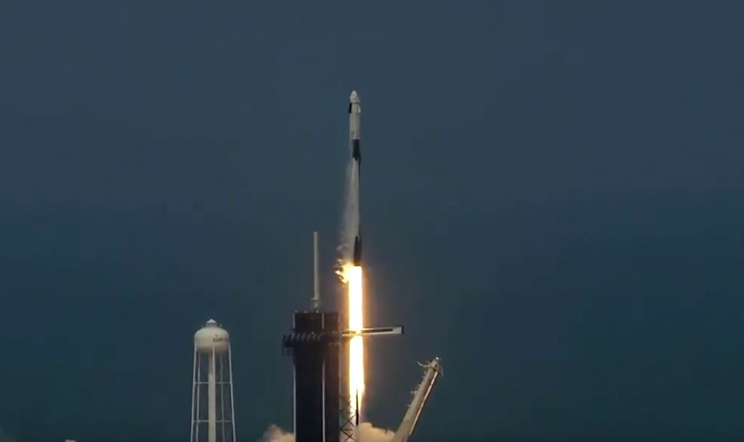 VIDEO: SpaceX rocket ship blasts off into orbit with 2 Americans