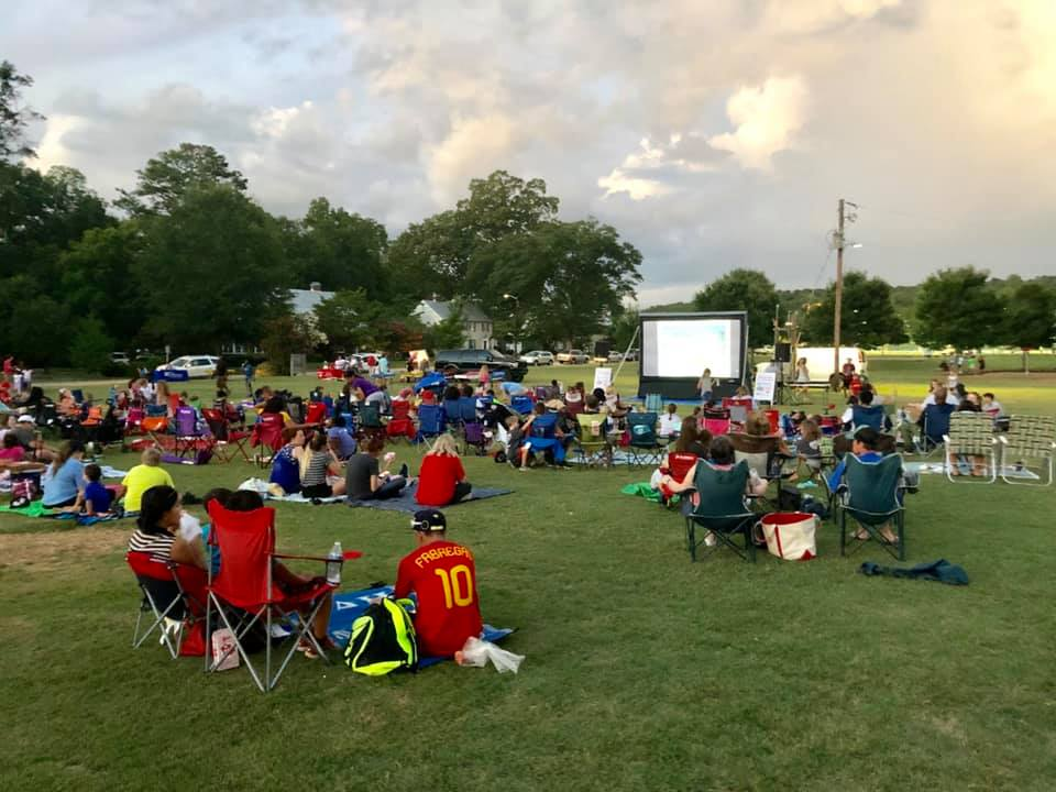 Trussville's Movie on the Mall Saturday night