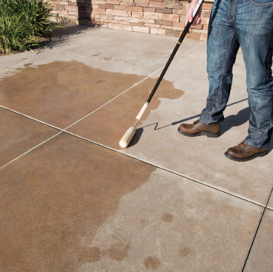 How To Stain Concrete The Trussville