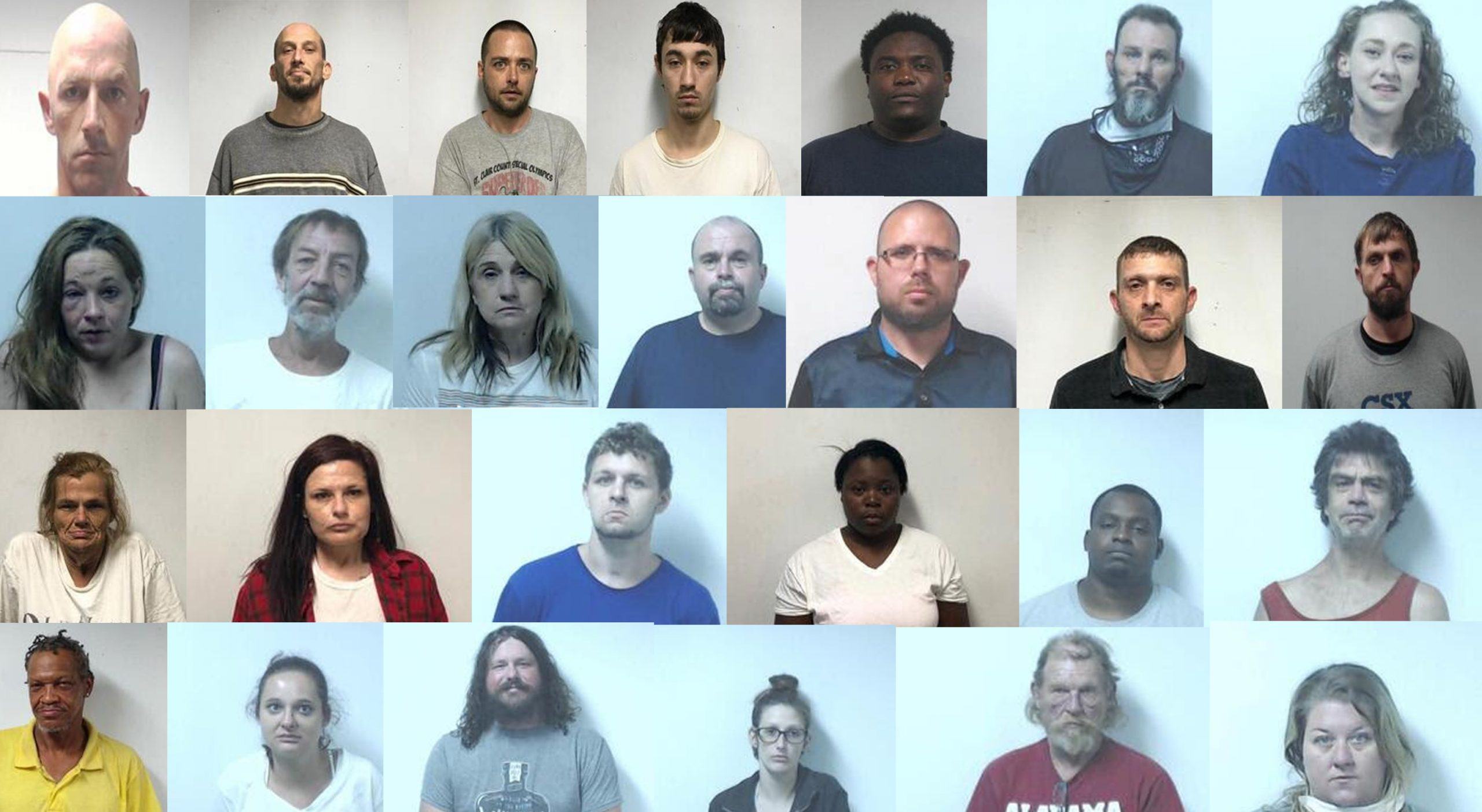 St. Clair County Jail Inmate Roster: Thursday, July 16, 2020