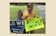 Trussville girls raising money for PD by selling signs of support