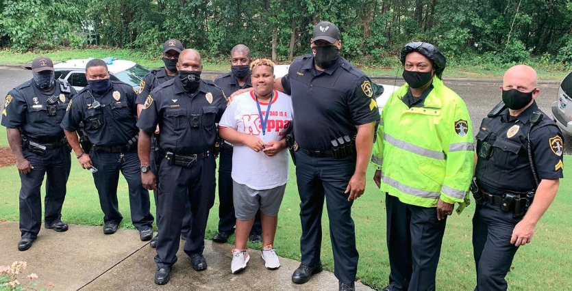 Birmingham PD throws surprise birthday for son of fallen officer