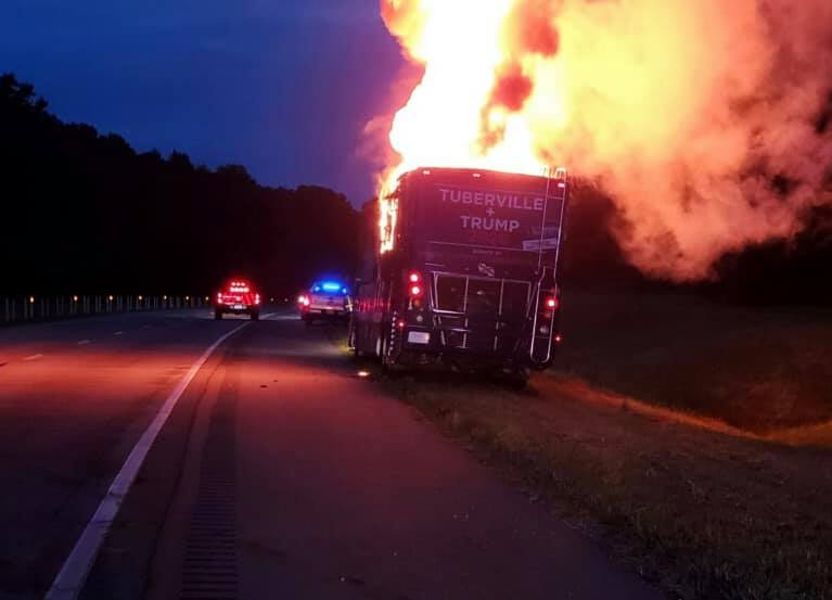 Senate candidate's campaign bus catches on fire in Alabama