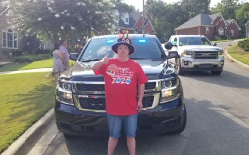 Community celebrates Trussville man with Down Syndrome with 50th birthday drive-by party