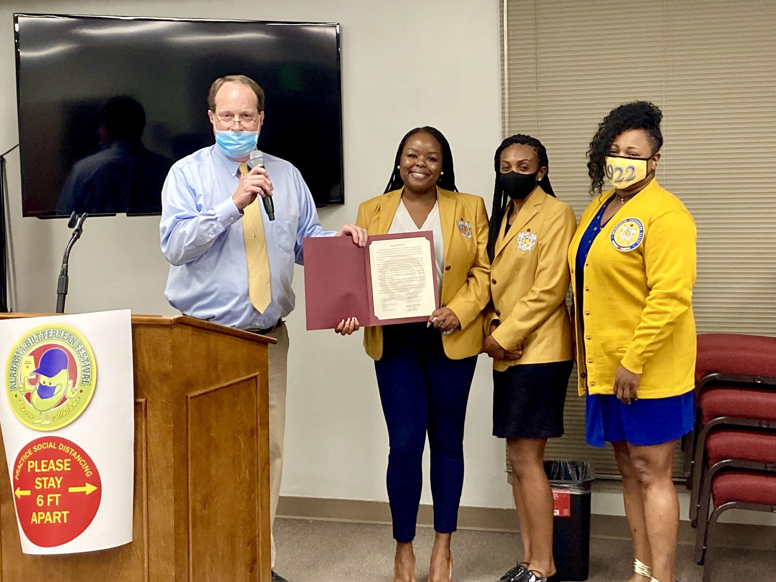 Pinson Council recognizes Lambda Eta Sigma Alumnae Chapter of Sigma Gamma Rho Sorority, Inc