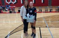 VOLLEYBALL: Huskies honor senior Blakely Valdez, notch 1st area win since 2017