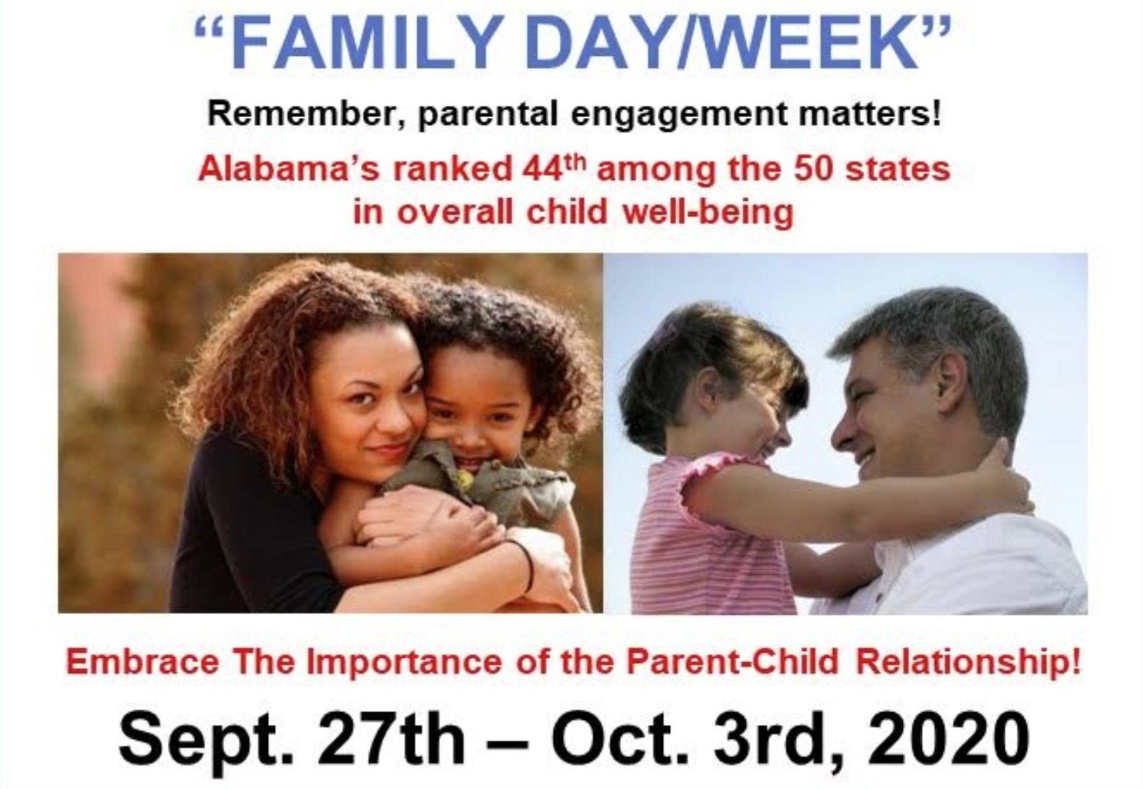 This week is Family Week and Monday is Family Day