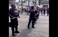 Protests break out in Louisville, two police officers shot
