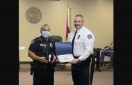 Moody police officer awarded for saving life of burglary suspect