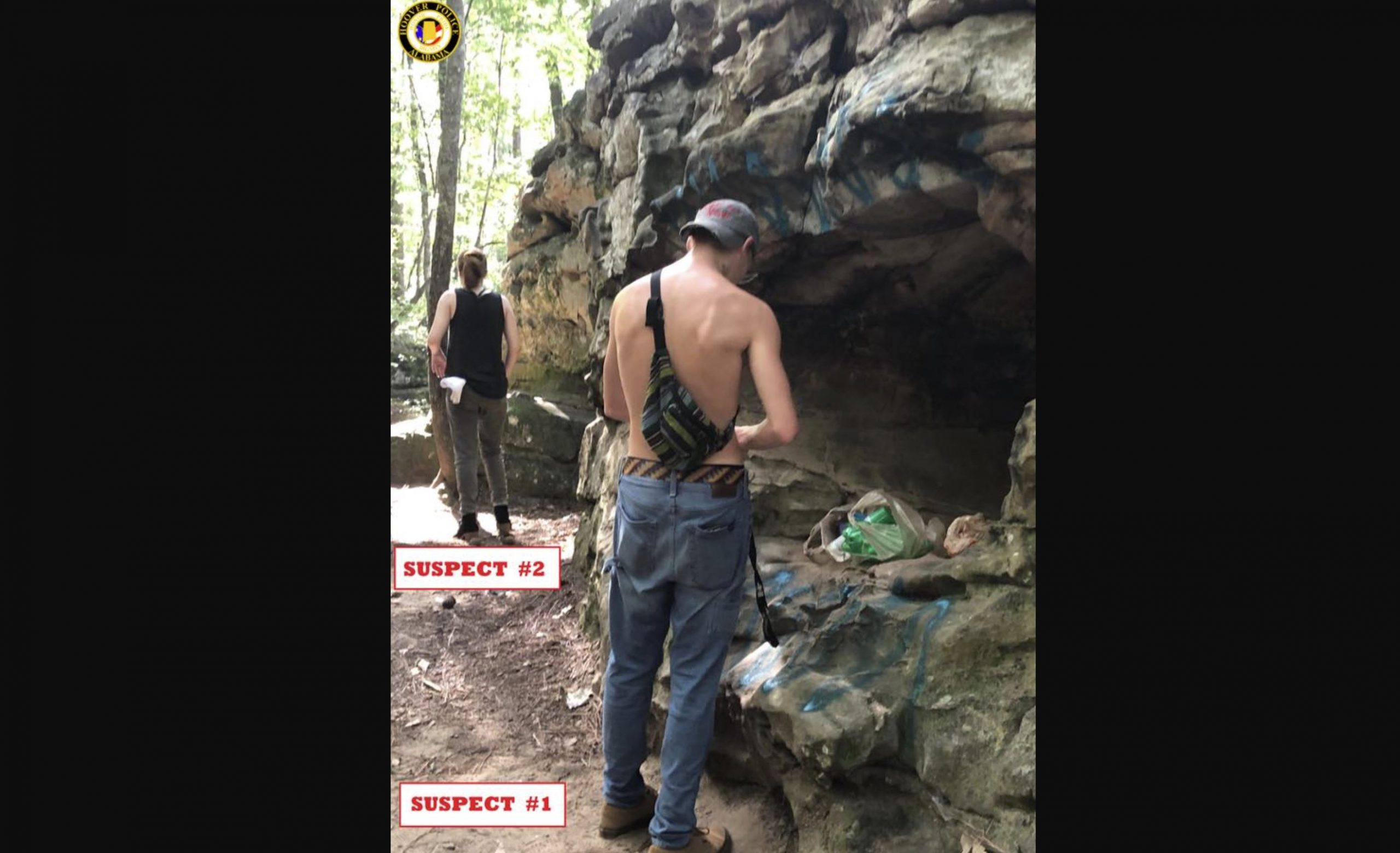 2 wanted for questioning after graffiti painted on boulders at Moss Rock Preserve