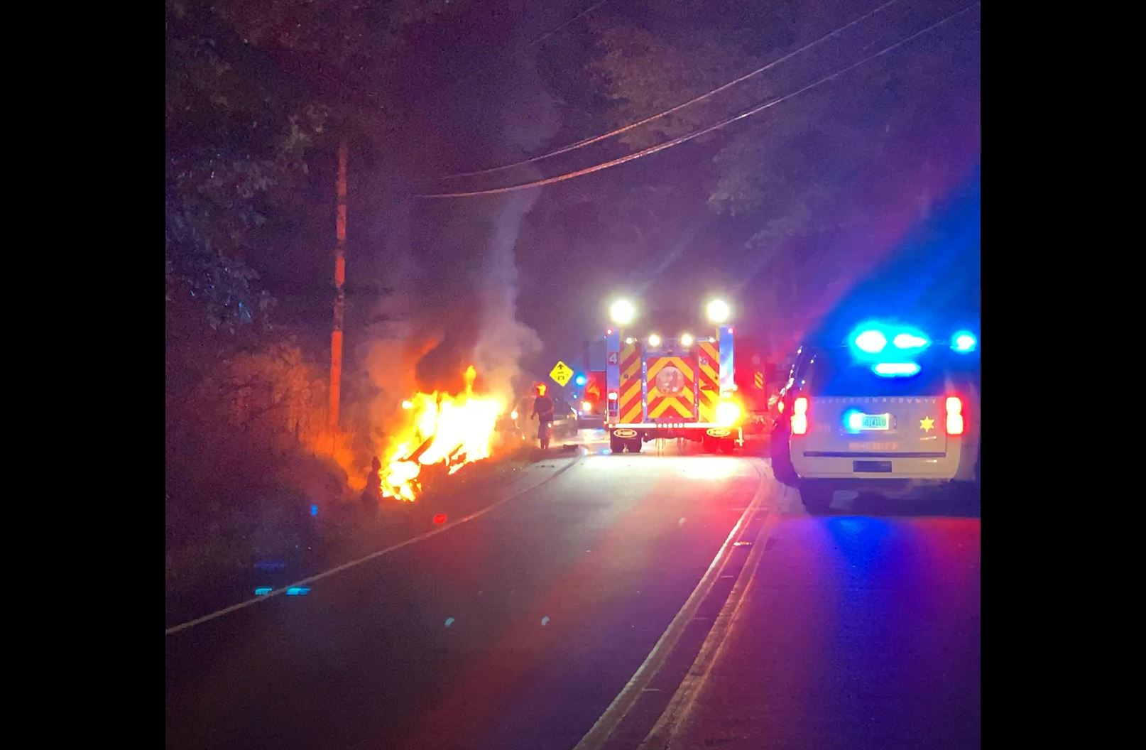 BREAKING: 3 transported after fiery crash on Dug Hollow Road in Pinson