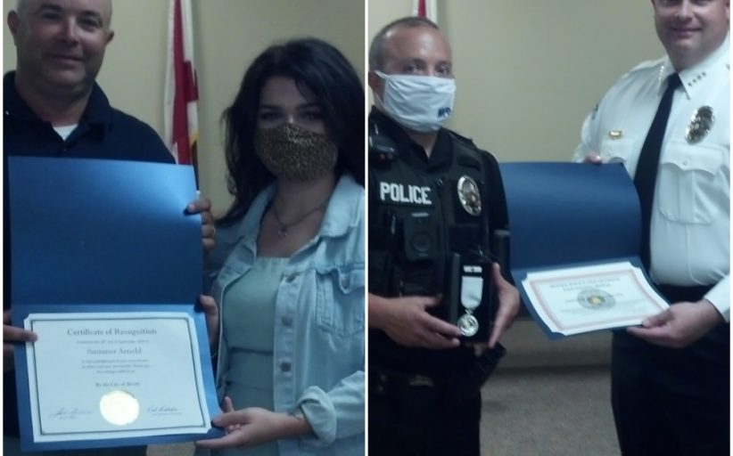 Moody Council recognizes local student, police officer for service