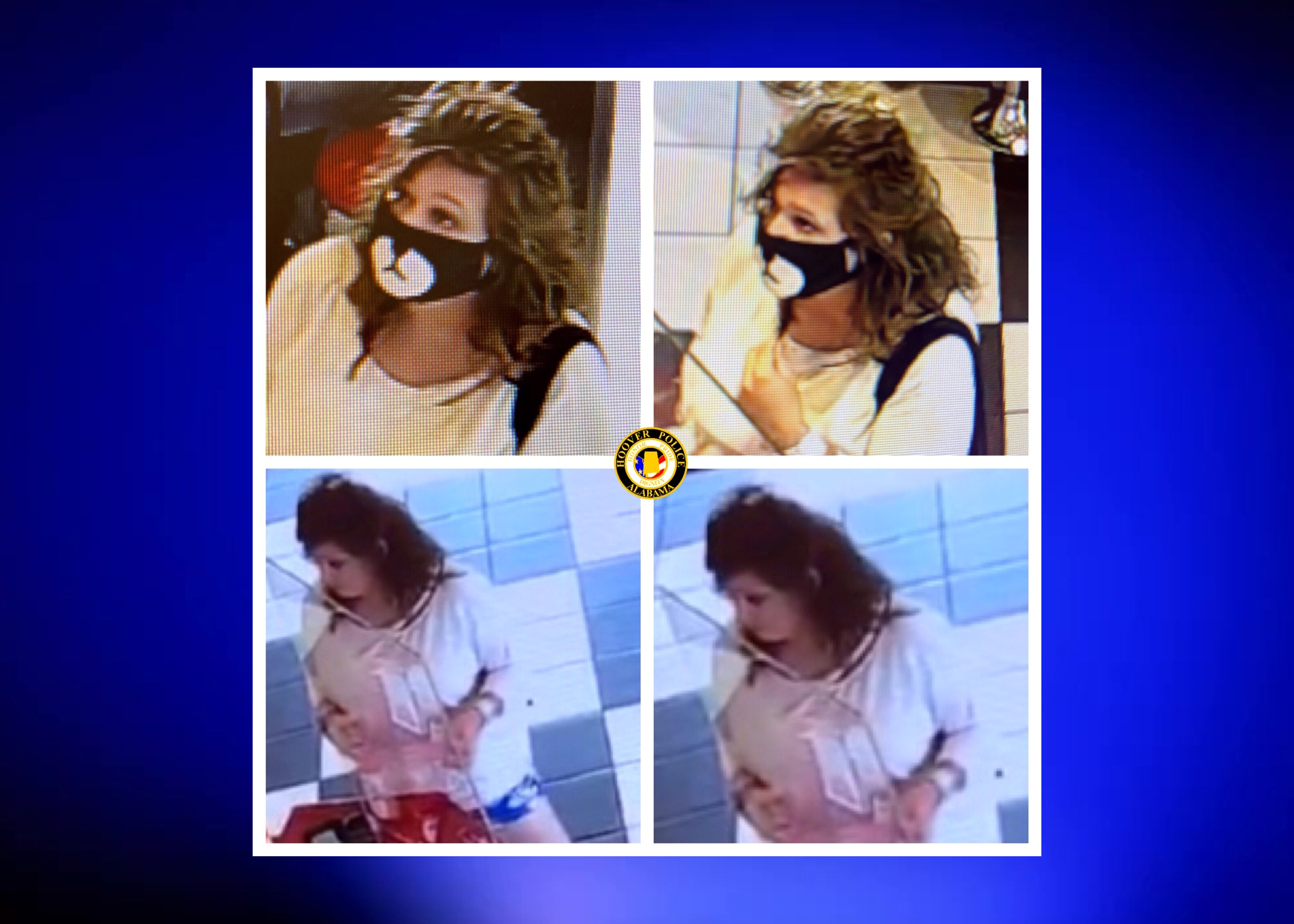 Woman wanted for questioning in multiple Hoover theft cases