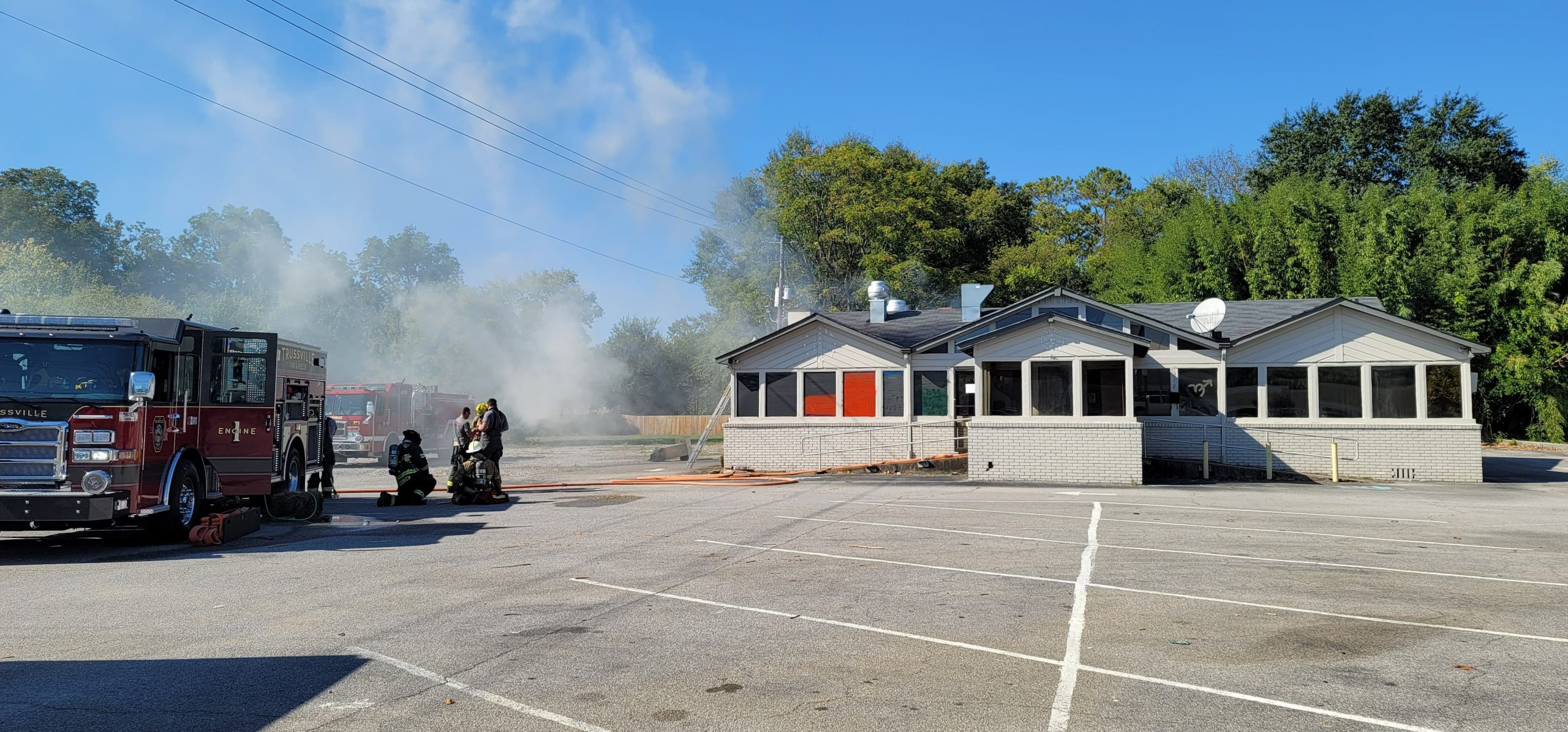 Trussville Fire and Rescue training at closed Joel's Restaurant