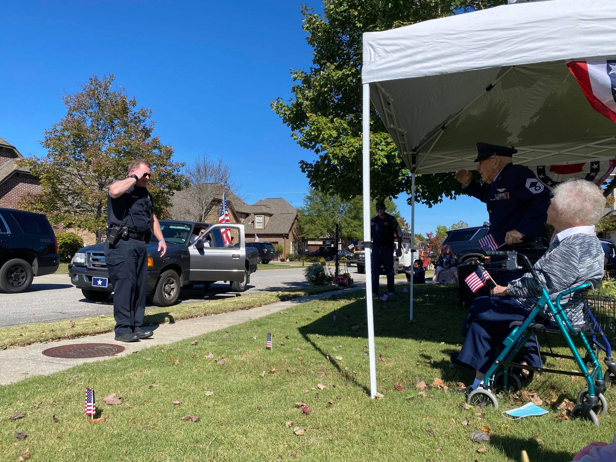 VIDEO: Patriotic drive-by birthday celebration for Trussville veteran