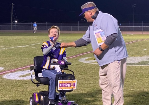 Springville super fan Christian Dickert surprised with new scooter