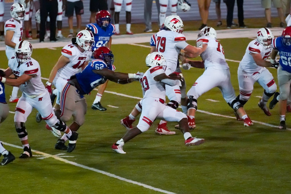 Hewitt holds off Vestavia with last-second INT