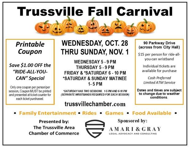 webfirepit Trussville Fall Carnival this week – Printable Coupon - Trussvilletribune