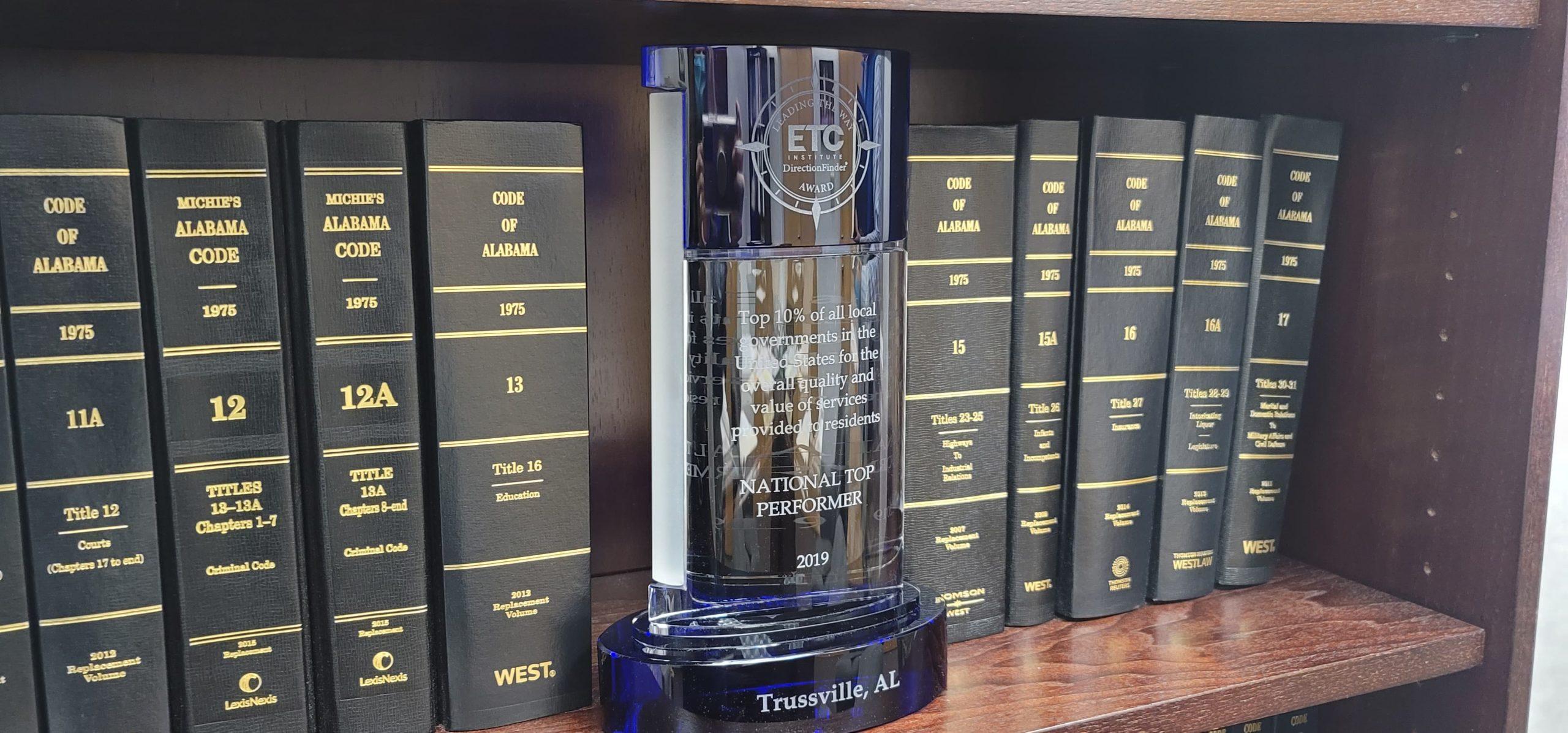 City of Trussville wins national award after citizen survey