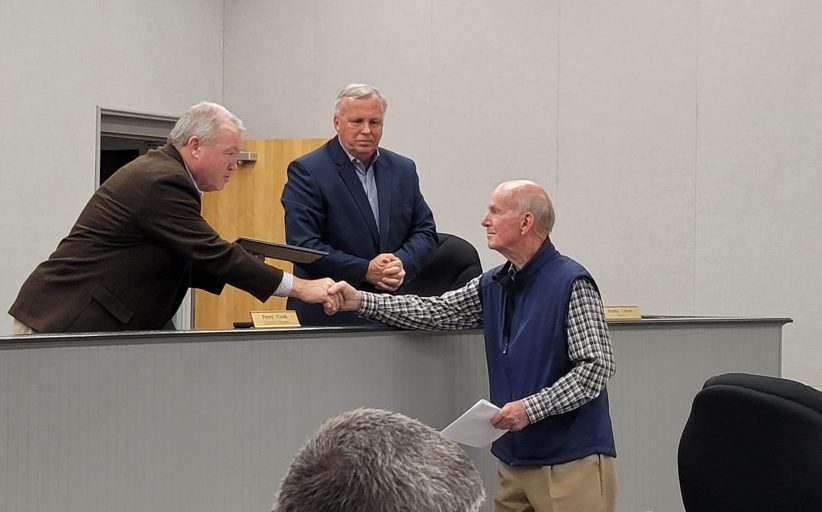 Trussville City Council honors retiring Utilities Board member after 18 years of service