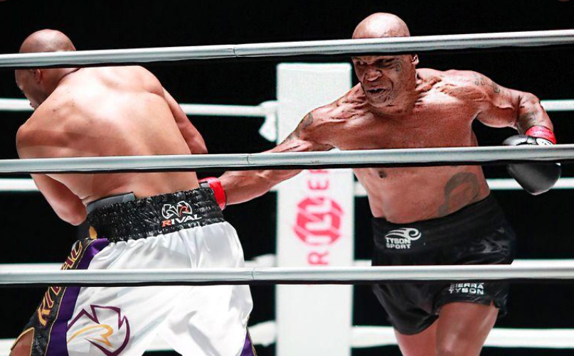Mike Tyson returns to ring at 54, draws with Jones