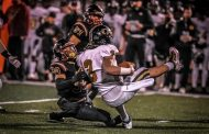 Pinson sacks Higgins 10 times in playoff rout