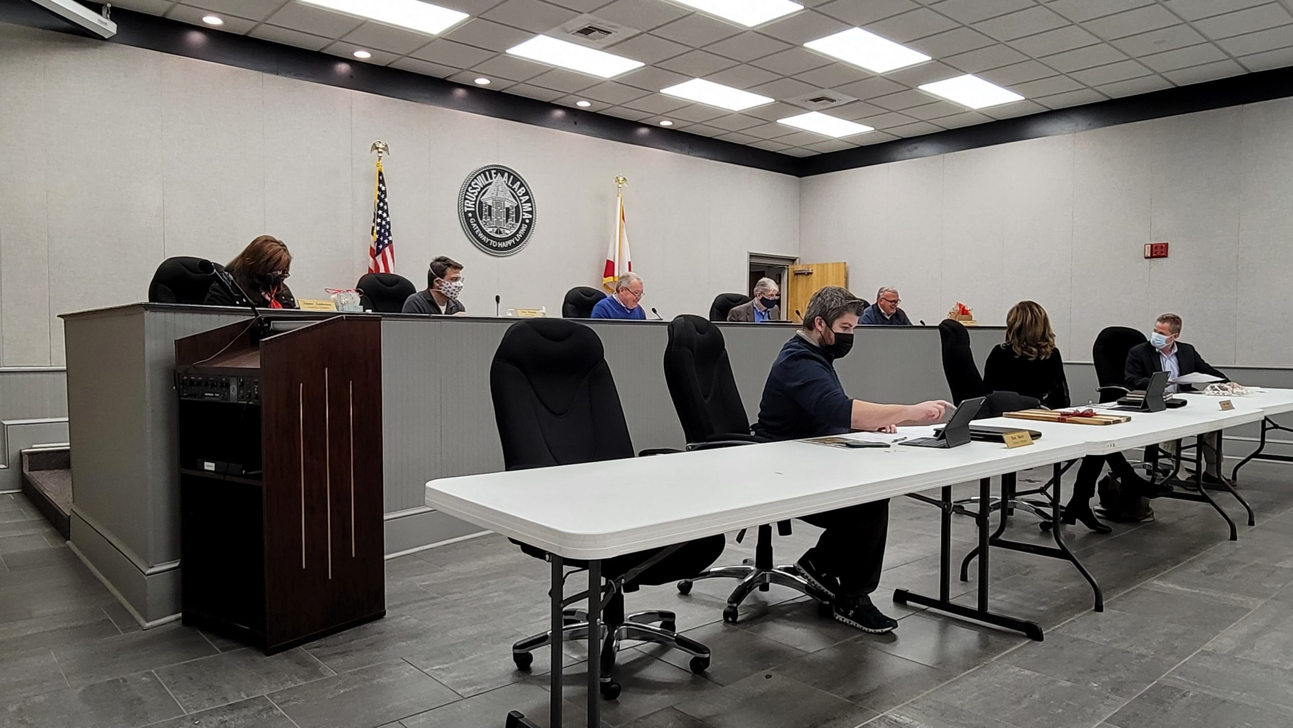 Trussville City Council passes proclamation on human trafficking awareness, tables facility usage agreement