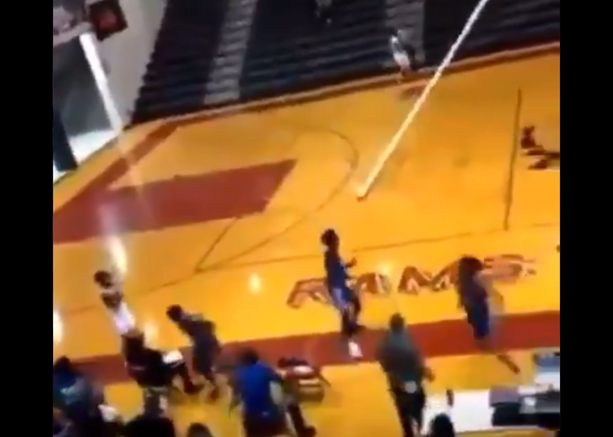 VIDEO: Ramsay basketball star tears down backboard