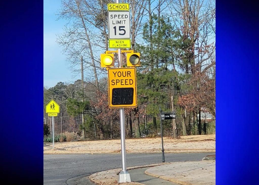 New flashing school zone signs installed around Trussville City Schools