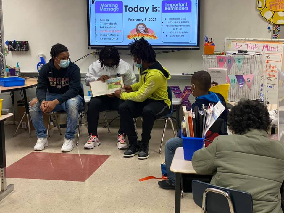 Champs pay a visit to schools in Pinson