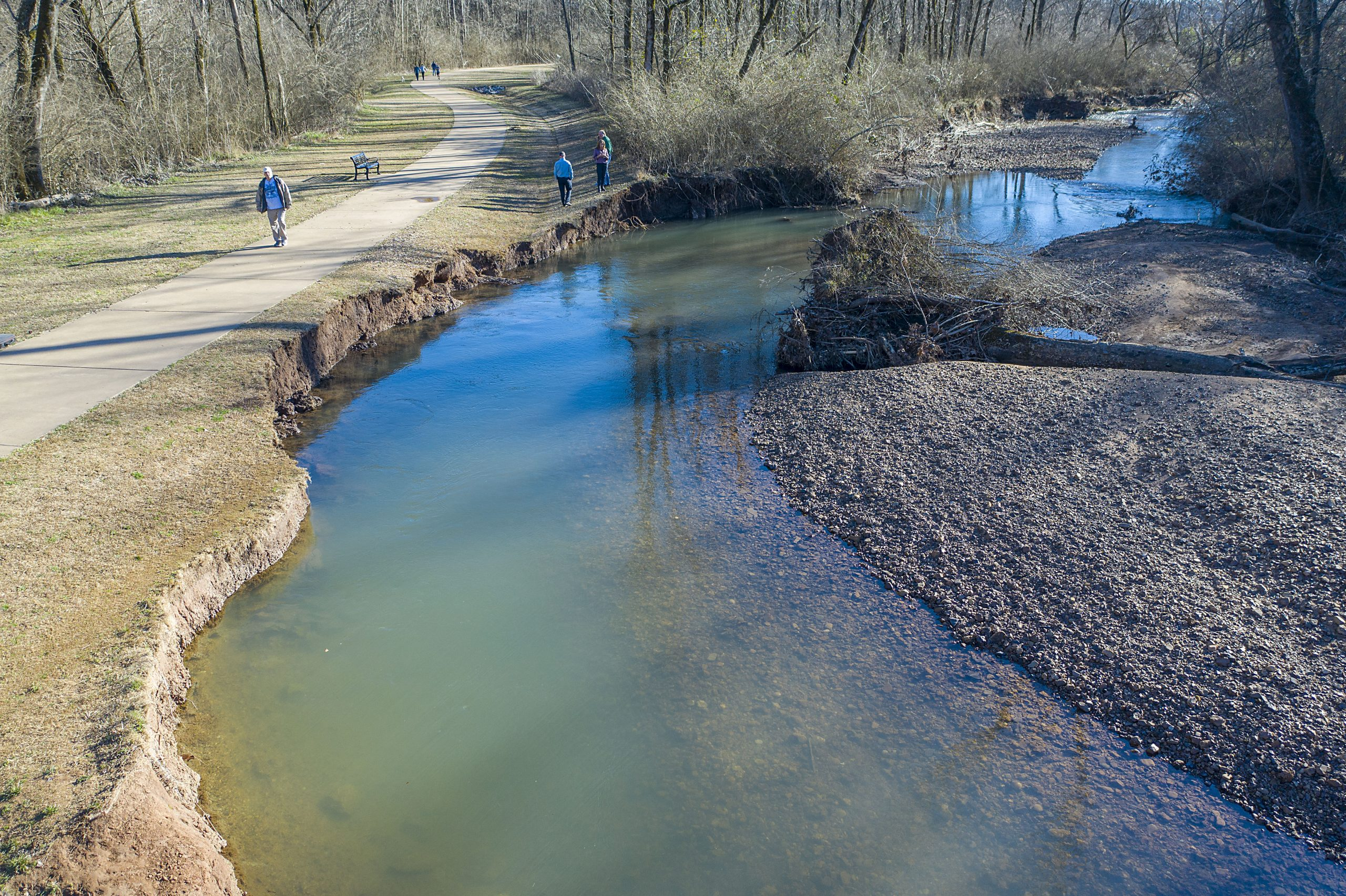 Severe erosion on Cahaba threatening part of Trussville's greenway