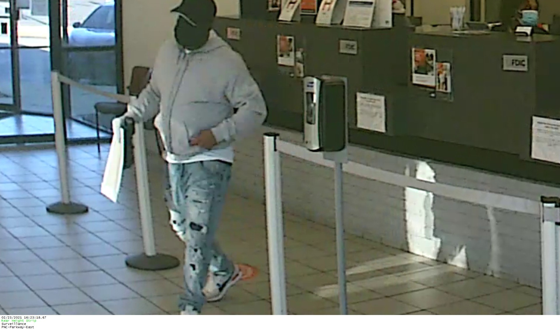PNC Bank robbed on Tuesday evening