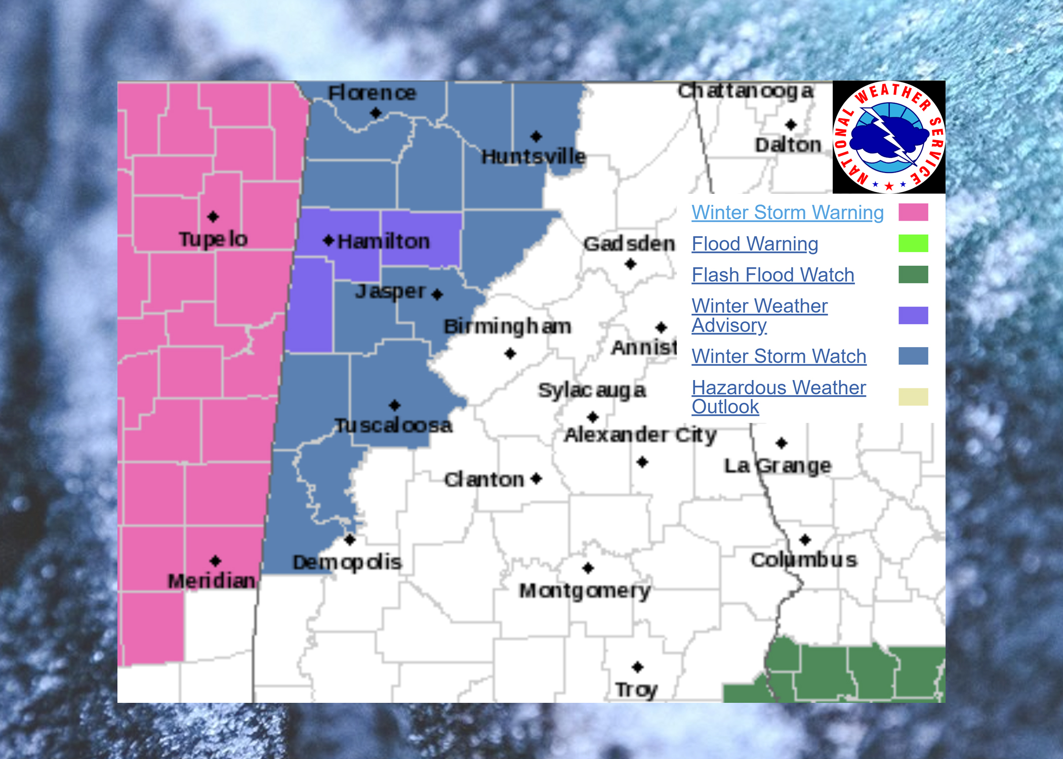 Icy road conditions persist across Alabama