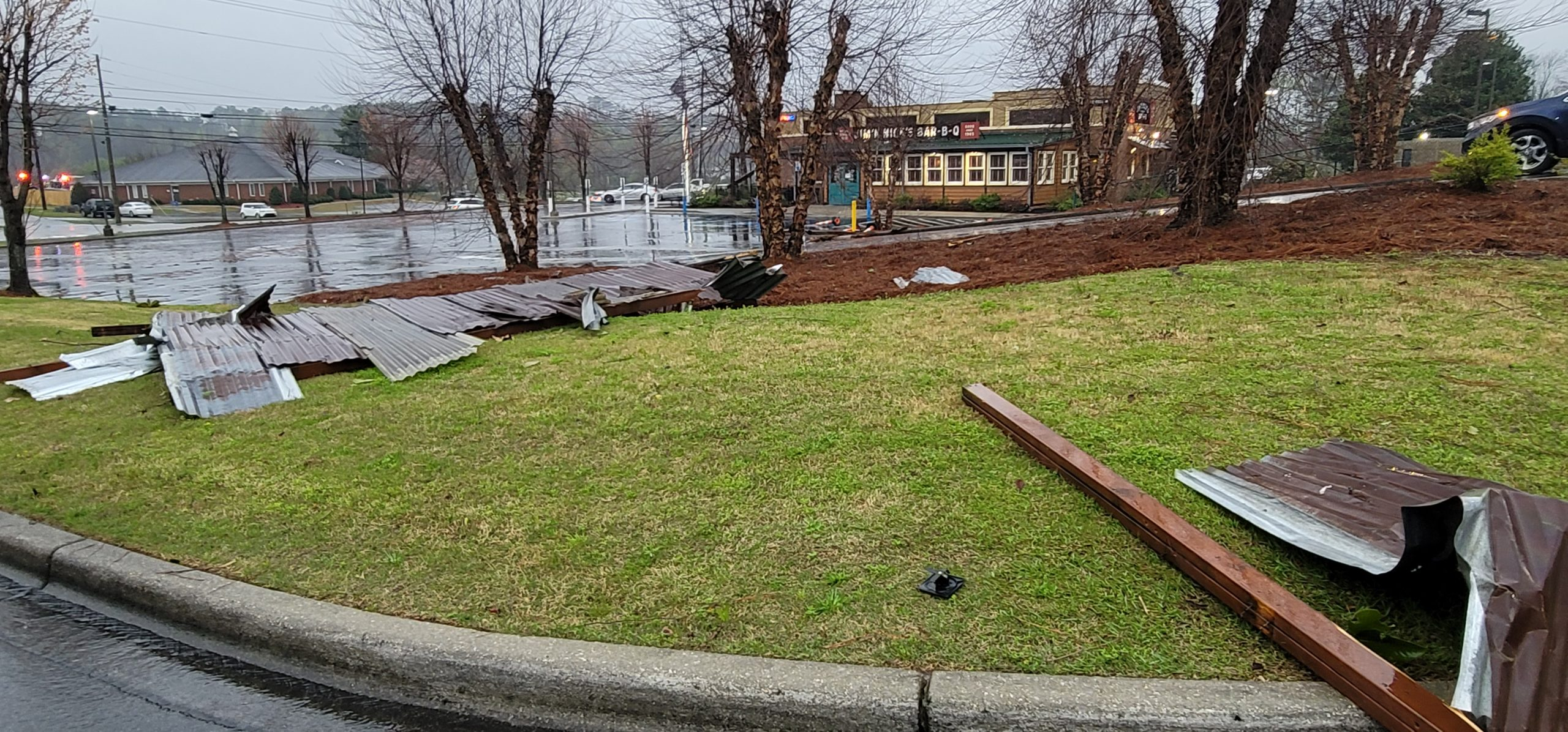 PHOTOS: Damage reported in Trussville; Roads blocked from downed trees