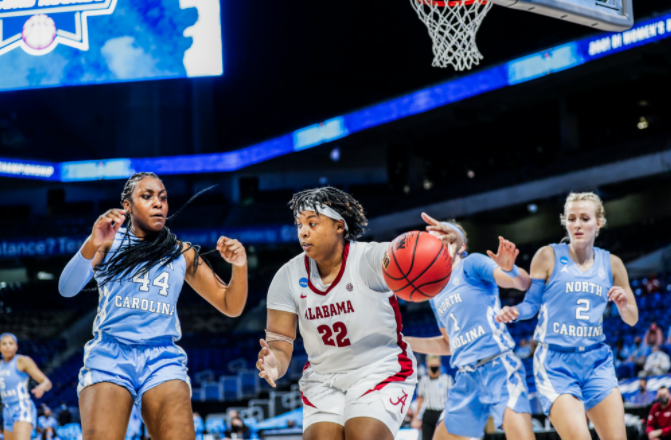 Lewis, Alabama women win in return to NCAA tourney, top UNC