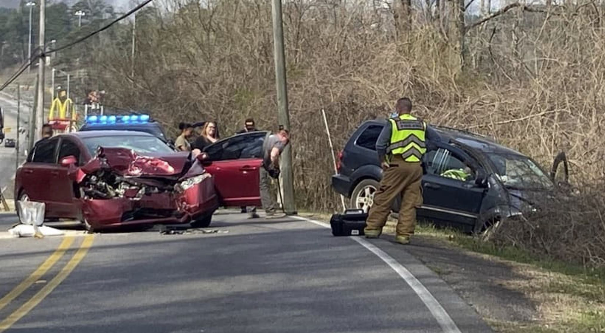 BREAKING: North Chalkville Road closed after head-on collision in Trussville