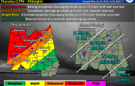 Severe storms could spawn tornadoes in the South on Thursday